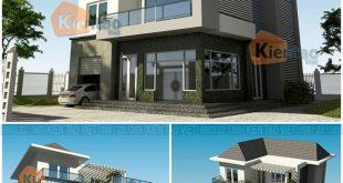 Phối cảnh kiến trúc - Mẫu thiết kế biệt thự 3 tầng hiện đại 120m2 ở Thanh Oai - BT03