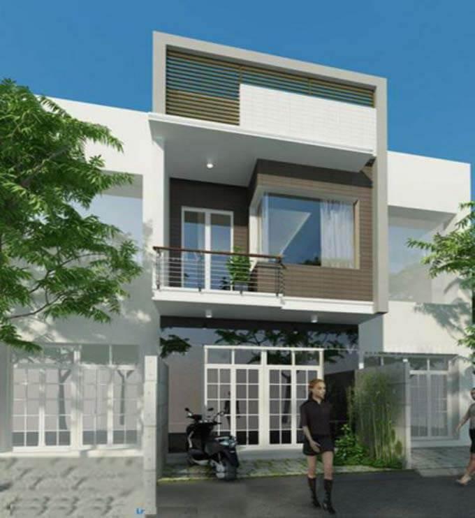 Mẫu nhà phố 2 tầng đơn giản 1