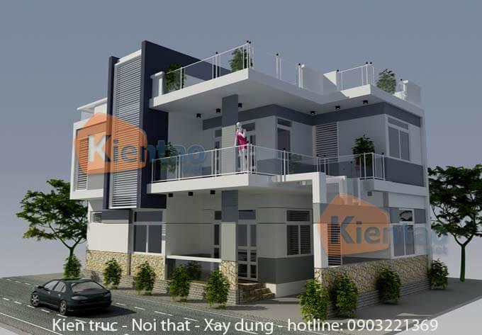 Mẫu nhà phố 2 tầng đơn giản 3
