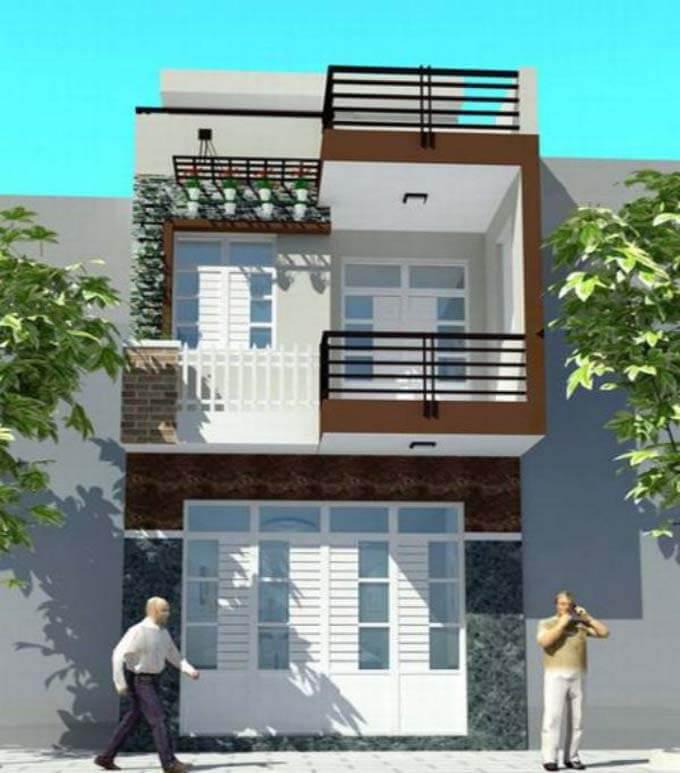 Mẫu nhà phố 2 tầng đơn giản 4