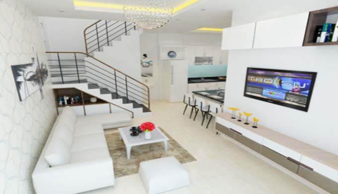 Tư vấn nội thất mẫu nhà phố 2 tầng giá rẻ chỉ 500 triệu