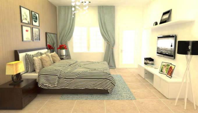 Phòng ngủ mẫu nhà phố 2 tầng giá rẻ 500 triệu