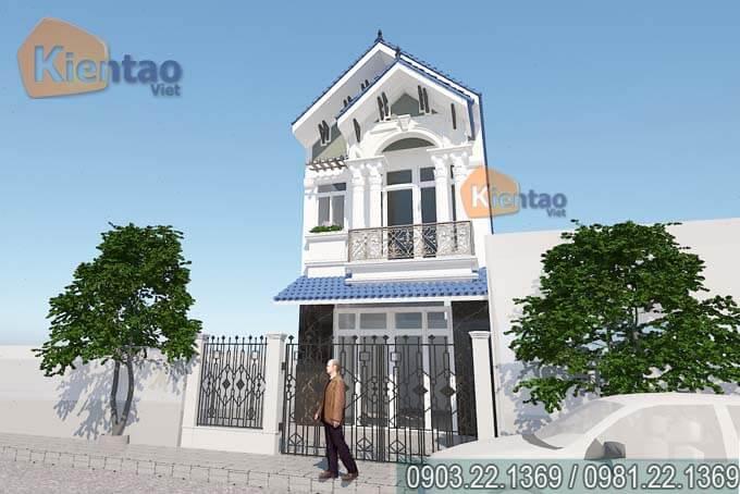 Phối cảnh 2 - Mẫu nhà phố 2 tầng 5x155m tân cổ điển ở Điện Biên
