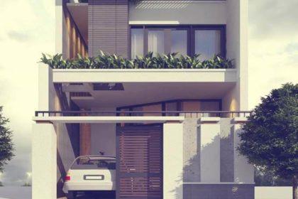 Phối cảnh mẫu thiết kế nhà phố 2 tầng 5x13m