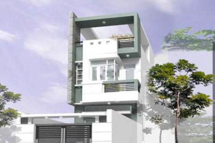 Phối cảnh mẫu nhà phố 2 tầng 1 tum 5x20m