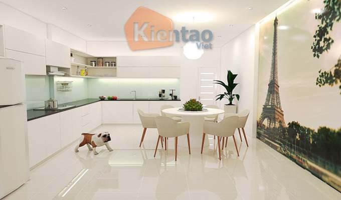 Phòng bếp - Mẫu thiết kế nhà phố 2 tầng 1 tum 5x20m