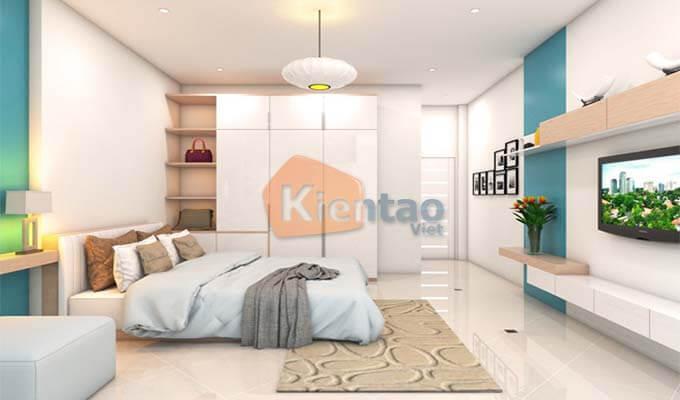Phòng ngủ của bố mẹ - Mẫu thiết kế nhà phố 2 tầng 1 tum 5x20m