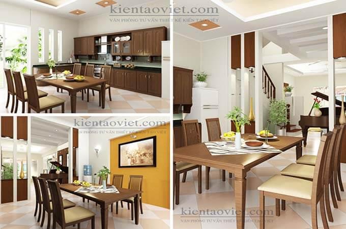 Phòng bếp - Thiết kế nhà phố 2 tầng 3.5x14.6mPhòng bếp - Thiết kế nhà phố 2 tầng 3.5x14.6m
