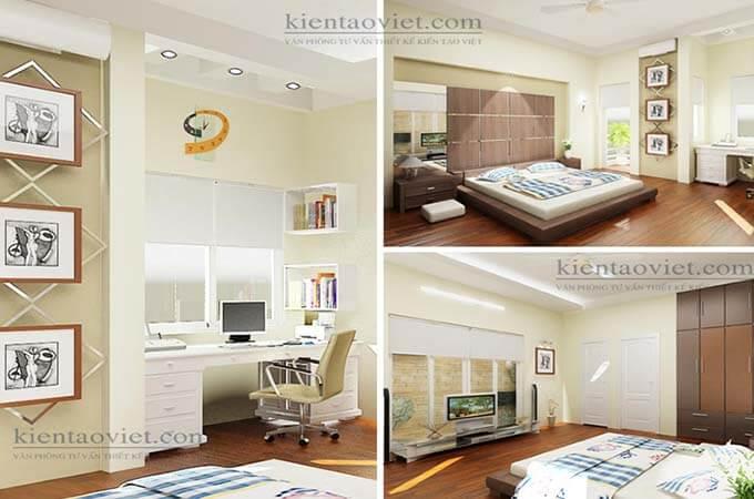Phòng ngủ - Thiết kế nhà phố 2 tầng 3.5x14.6m