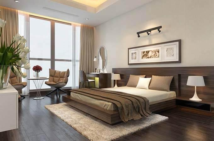 Nội thất phòng ngủ tham khảo - Mẫu nhà phố 2 tầng 3.3x15m