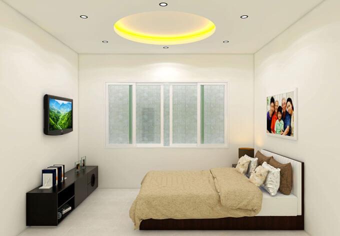 Phòng ngủ thiết kế nhà phố 2 tầng 4.7x8.2m