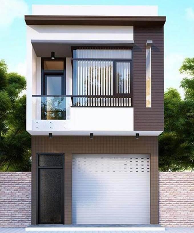 Phối cảnh tham khảo thiết kế nhà phố 2 tầng 4.5x14m