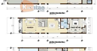 Công năng thiết kế nhà phố 2 tầng 4.5x18.5m