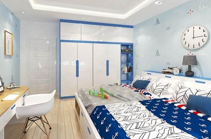 Phòng ngủ của con thiết kế nhà phố 2 tầng 4.5x18.5m