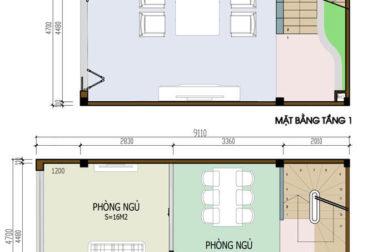 Thiết kế nhà phố 2 tầng 4.7x8.2m