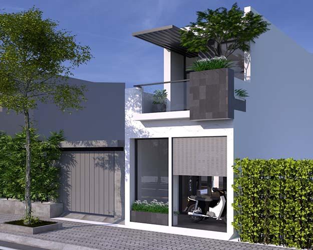 Phối cảnh nội ngoại thất nhà phố diện tích nhỏ