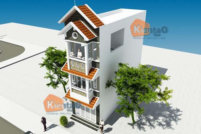 Phối cảnh 01: Mẫu nhà phố 3 tầng đẹp tại Hà Đông