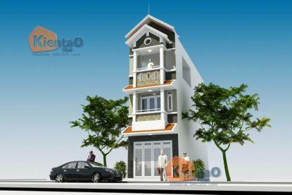 Phối cảnh 02: Mẫu nhà phố 3 tầng đẹp tại Hà Đông