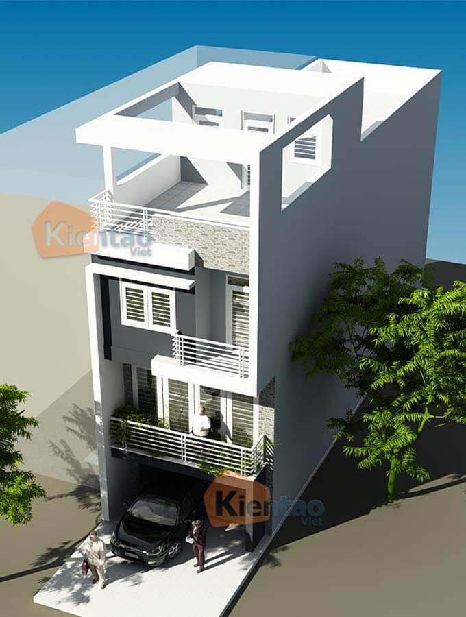 Phối cảnh mẫu nhà phố 3 tầng tại Ba