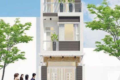 Phối cảnh 3D nhà phố 3 tầng tại Tây Hồ