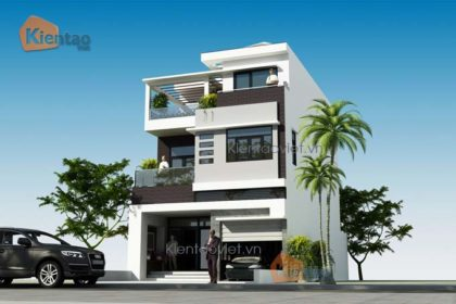 Thiết kế nhà phố 3 tầng 7x12m