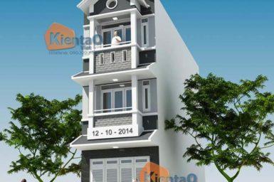 Phối cảnh 01: Mẫu thiết kế nhà phố 3 tầng tại Mỹ Đức