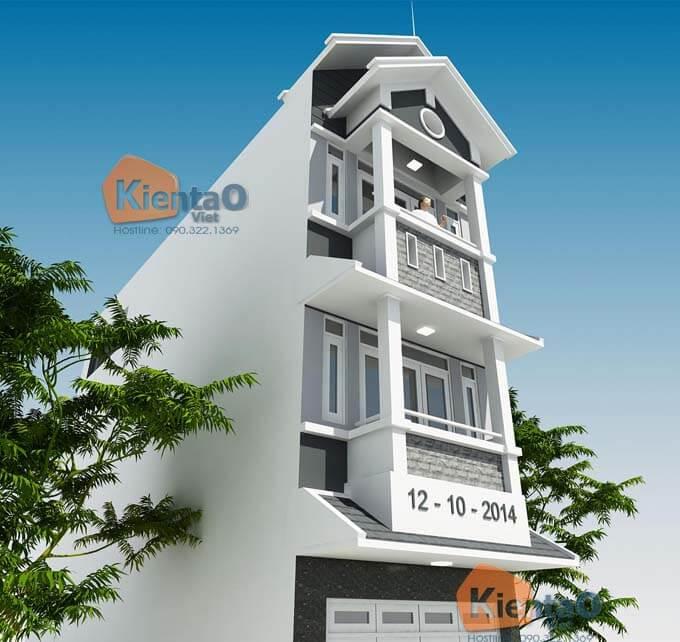 Phối cảnh 02: Mẫu thiết kế nhà phố 3 tầng tại Mỹ Đức 3.9x13m