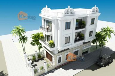 Thiết kế nhà phố 3 tầng có gác lửng - PC2