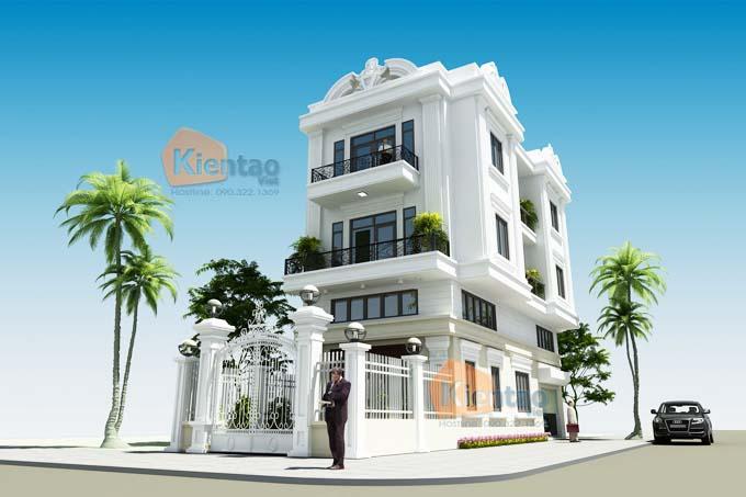Thiết kế nhà phố 3 tầng 6.5x14m tân cổ điển ở Hà Nam - Phối cảnh 05