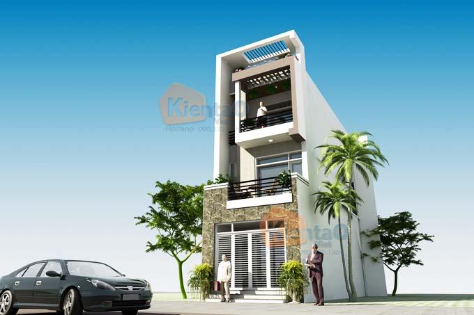 Thiết kế nhà phố 3 tầng 5x14m hiện đại. PC3
