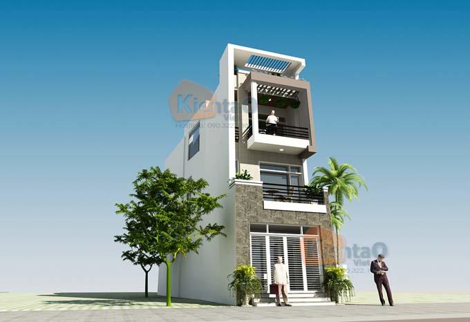 Thiết kế nhà phố 3 tầng 5x14m hiện đại. PC1