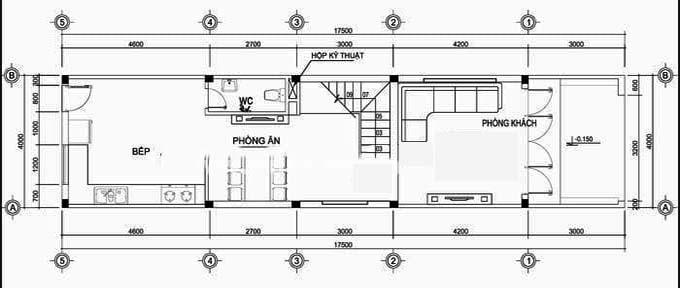 Thiết kế nhà phố 3 tầng đơn giản hiện đại với 4m mặt tiền