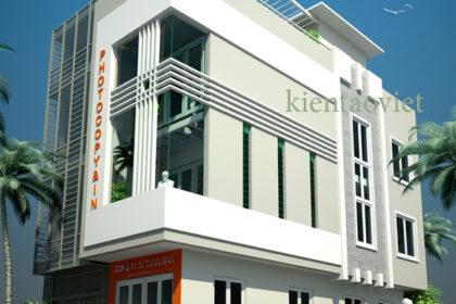 Cải tạo nhà phố 3 tầng 2 mặt tiền 3,2x12,6m tại Trường Trinh, Hà Nội – Phối cảnh kiến trúc