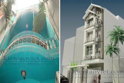 Cải tạo nhà phố cách tân 5 tầng 4,3×15,6m tại Hai Bà Trưng, Hà Nội – Hiện trạng công trình