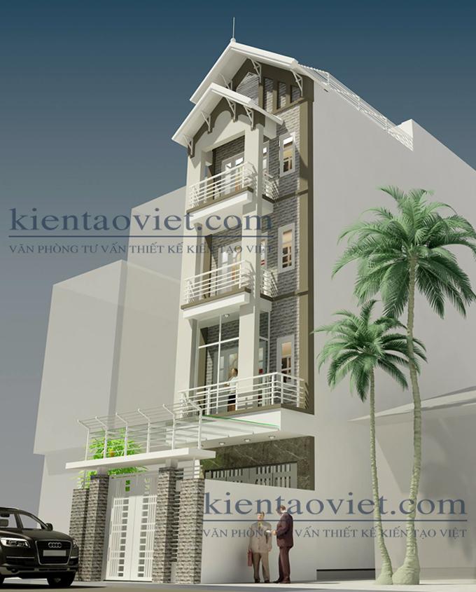Cải tạo nhà phố cách tân 5 tầng 4,3×15,6m tại Hai Bà Trưng, Hà Nội – Phối cảnh sau cải tạo