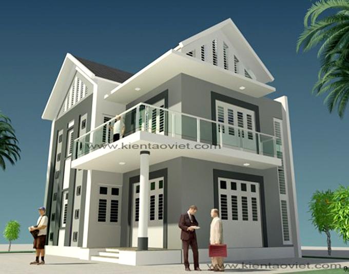 Mẫu biệt thự 2 tầng 10,6x8,6m hiện đại tại Hưng Yên - Phối cảnh 03