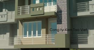 Mẫu nhà phố 3 tầng 5x30m kinh doanh nhà nghỉ tại Nhổn, Hà Nội – Phối cảnh 02