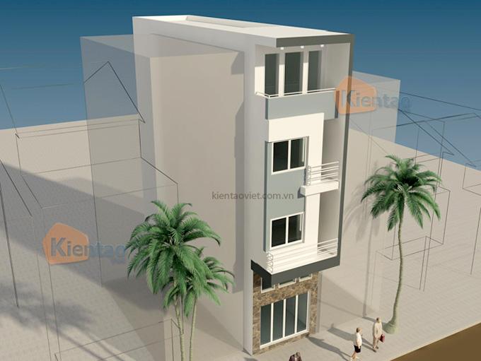 Mẫu nhà phố 4 tầng 3x10,5m tại Hai Bà Trưng, Hà Nội – Phối cảnh 03