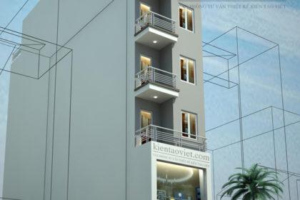 Mẫu nhà phố 6 tầng 4x20m cho thuê kinh doanh tại Hà Nội – Phối cảnh