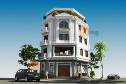 Mẫu nhà phố lô góc 5 tầng 6,6x10,9m tại Tân Triều, Thanh Trì, Hà Nội - Phối cảnh 01