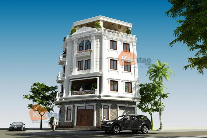 Mẫu nhà phố lô góc 5 tầng 6,6x10,9m tại Tân Triều, Thanh Trì, Hà Nội - Phối cảnh 04