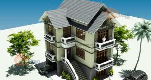 Nhà biệt thự 3,5 tầng 70m2 tại Vân Đình, Hà Nội - Phối cảnh 01