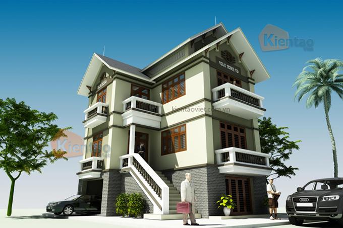 Nhà biệt thự 3 tầng 70m2 tại Vân Đình, Hà Nội - Phối cảnh 02