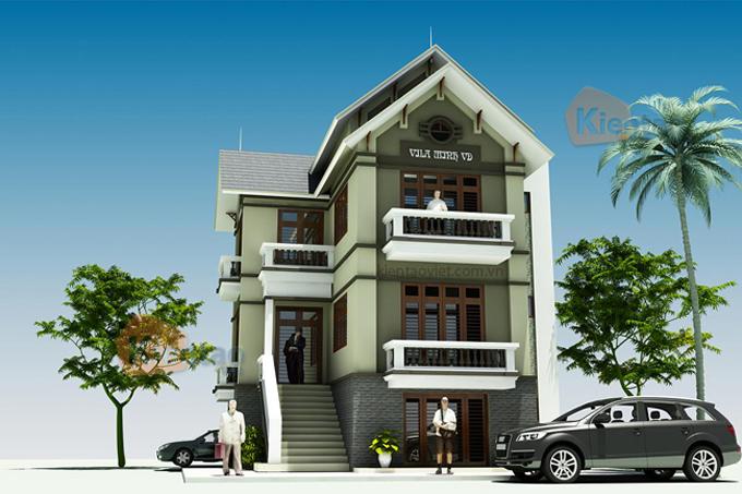 Nhà biệt thự 3 tầng 70m2 tại Vân Đình, Hà Nội - Phối cảnh 03