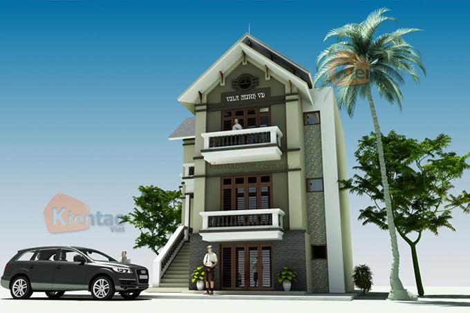 Nhà biệt thự 3 tầng 70m2 tại Vân Đình, Hà Nội - Phối cảnh 04