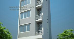 Nhà phố 4 tầng 33m2 đất méo 2 mặt tiền tại Thanh Xuân, Hà Nội - Phối cảnh 01