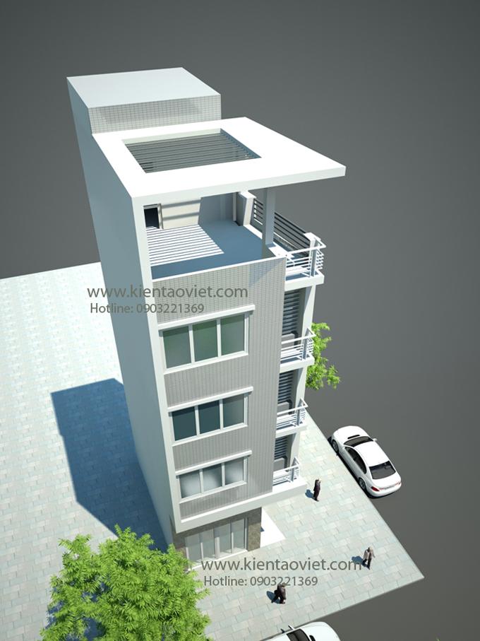 Nhà phố 4 tầng 33m2 đất méo 2 mặt tiền tại Thanh Xuân, Hà Nội - Phối cảnh 02