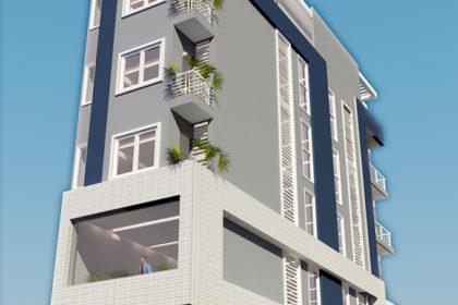 Nhà phố 5 tầng hiện đại 4x18m kết hợp cho thuê tại Kim Ngưu, Hà Nội – Phối cảnh