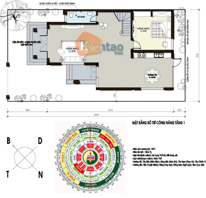 Thiết kế nhà biệt thự 3 tầng 120m2 tại Lạng Sơn - Phối cảnh 05