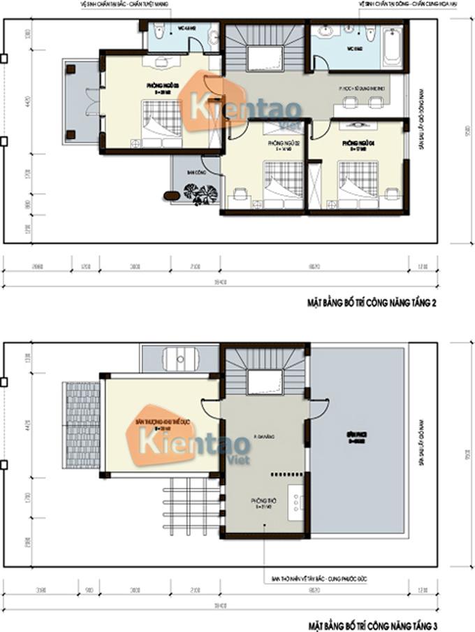 Thiết kế nhà biệt thự 3 tầng 120m2 tại Lạng Sơn - Phối cảnh 06